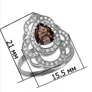 Подвеска серебро природный  Раухтопаз