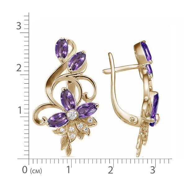 Серьги золото на заказ с драгоценными или с полудрагоценными камнями.