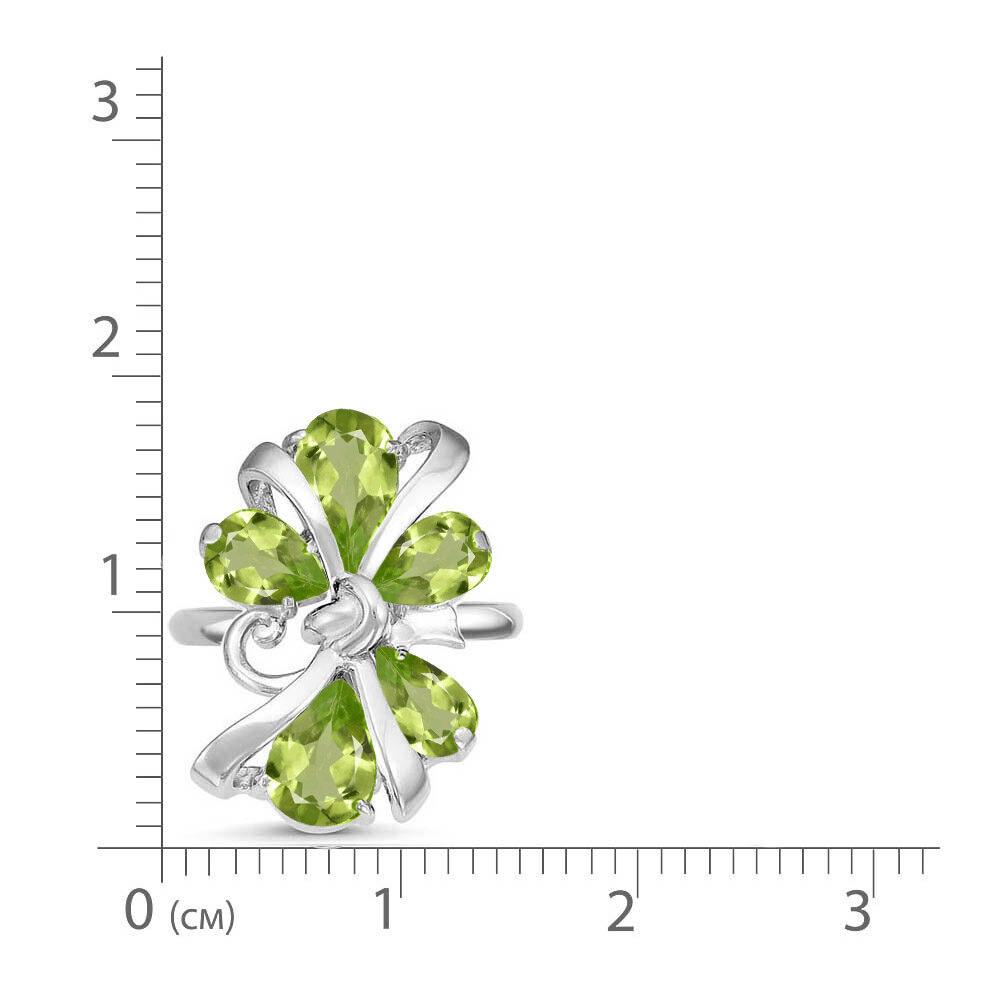 Кольцо серебро натуральный природный хризолит