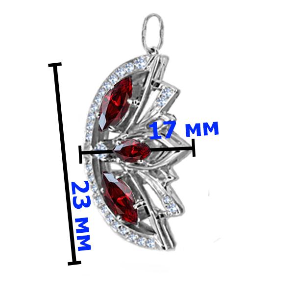 Подвеска серебро  натуральный природный гранат
