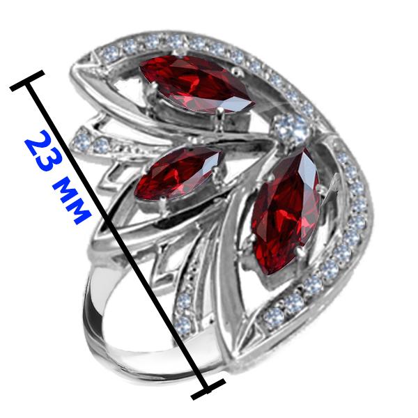 Кольцо серебро натуральный природный гранат